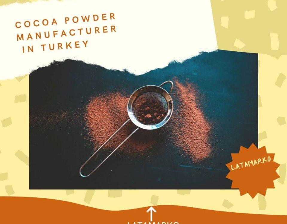 Alkalized or non-acidic cocoa powder