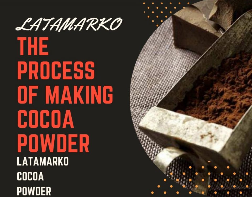 The process of making Cocoa powder